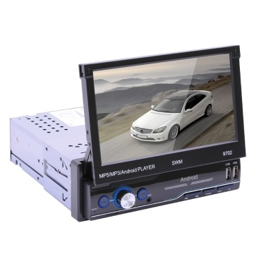 7 inch Car Radio 1Din Manual Retractable Touch Screen Stereo MP5 Player Android 8.1 GPS FM WiFi Bt Multimedia Player