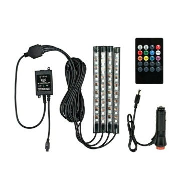 Auto Interieur RGB LED-Lichtleisten 5050 IP65 Wasserdichte Musik + Controller