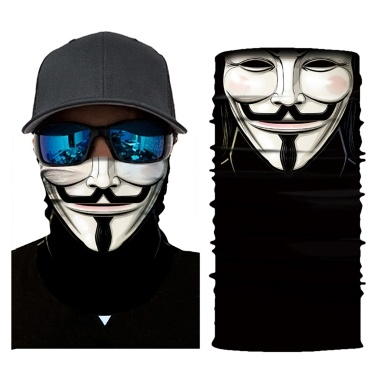 Cool Robot Skeleton Halloween Mask Scarf Joker Headband Balaclavas for Cycling Fishing Ski Motorcycle