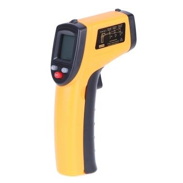 Termómetro infrarrojo digital Láser Pistola de temperatura industrial sin contacto con luz de fondo -50-380 ° C (NO para humanos)