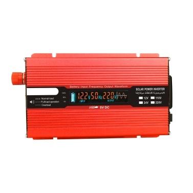 Voltage Converter 1500W 3000W 12V 240V Inverter USB Power Inverter with 1 Socket and LCD Display