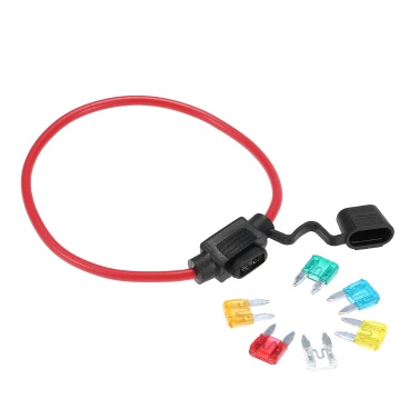 Car Automotive In-Line Mini Blade Fuse Holder 12V 30A with 6 Fuses
