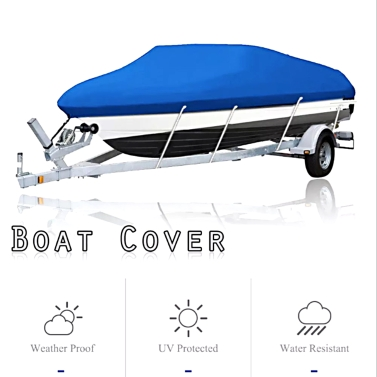 Boat Cover 14-16FT Waterproof Silver Reflective