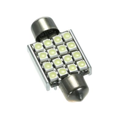 Weiß 12V 36mm 16 SMD 3528 Auto-Innenhaube Girlande LED Glühlampen Lampe