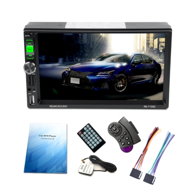 "Universal 7"" Full HD 1080P Car MP5 Player GPS Navigation BT AM/FM/RDS Radio Car Multimedia Player RK-7159G with GPS Navigation"
