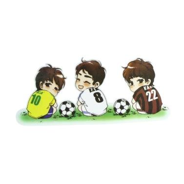 Quelima 1Pc Netter Karikatur-wasserdichter Fußball-Muster-Auto-Aufkleber