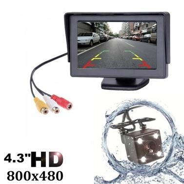 4.3 Inch TFT LCD Car Rear View Backup Monitor Camera Kit