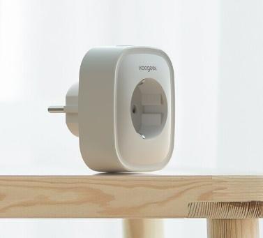 Koogeek Wi-Fi habilitado Smart Plug compatível com Alexa e Google Assistente de Controle Remoto da UE Plug 1 pacote