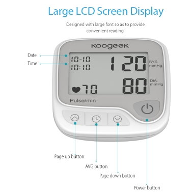 Koogeek Smart Wrist Blood Pressure Monitor