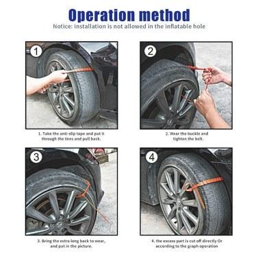 10pcs Auto Anti-Rutsch-Schnee-Reifen-Reifen-Rad-Ketten-Rindfleisch-Sehnen-Nylonbügel-Gurt