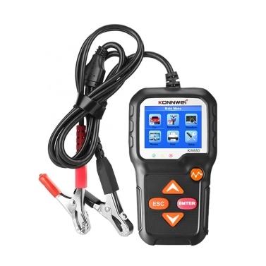 Probador de batería de coche KONNWEI Probador de carga de batería de automóvil de 12 V en sistema de arranque y sistema de carga Herramienta de escaneo Probador de batería Automotriz para automóviles / SUV / Camiones ligeros