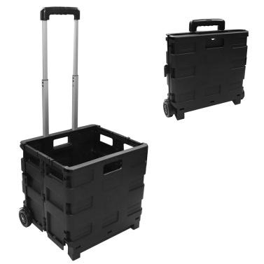 Faltbarer Einkaufswagen mit Griff 30L Zusammenklappbarer Handwagen mit großem Fassungsvermögen und Rädern