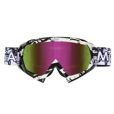 Motorradsport Reiten Radfahren Brille Außen Ski winddichte Anti-Fog-Glasfarbe Linsen