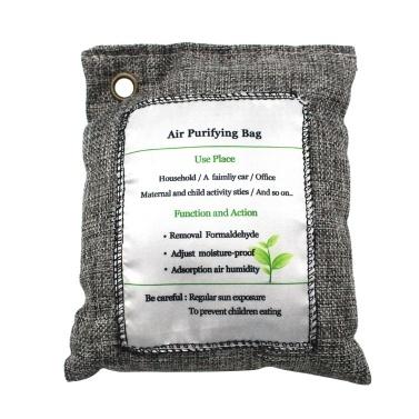 200g Bolsa de purificación de aire Bolsa de carbón vegetal Eliminador de olores Absorbente de olores sin perfume Captura y elimina olores