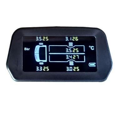Solar High-precision Wireless Light Truck Tire Pressure Monitor 6 Tires Real-time Display External Sensor for Freight Car