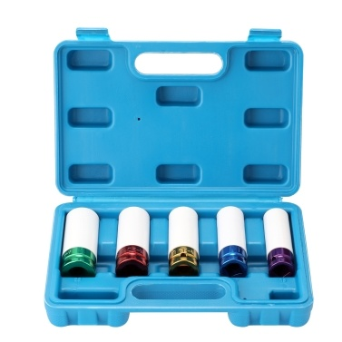 Pneumatic Tire Protections Sleeve Color Long Sleeve Tool Auto Repairs Kit Color 5-piece Set Lug Nut Hex Socket