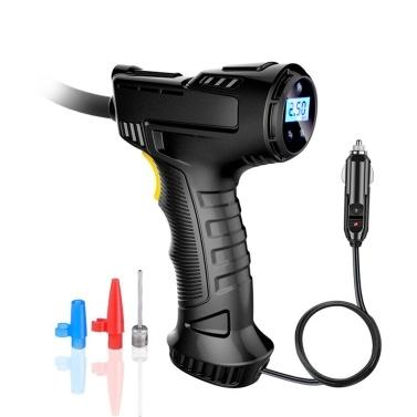 Aufblasbare Handpumpe Drahtloser Auto-Luftkompressor Wiederaufladbarer Reifenfüller mit Digitalanzeige LED-Lichtdruckmesser