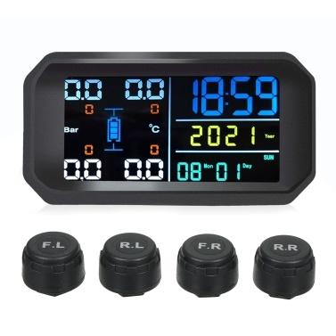 Drahtloses Reifendrucküberwachungssystem Externer Reifendruckmonitor für Autos Bunte Bildschirme