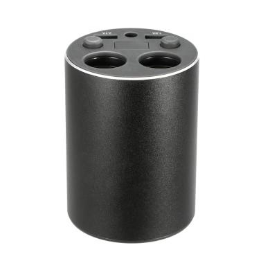 DC 12-24V Car Cup Charger Cigarette Lighter Splitter LED Voltage Current Display Dual USB Ports Switch