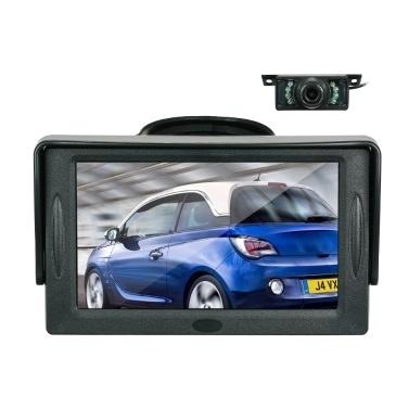 4,3 Zoll TFT Farbdisplay Sonnenblende Auto LCD Monitor Dashboard Bildschirm Parkplatz Monitor Saugnapf Typ