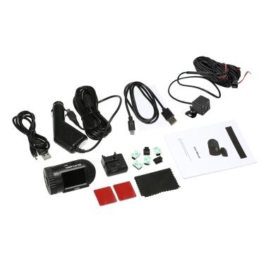 Supermini 1080P HD Schlag-Nocken 801S 1.5Inch LCD-Bildschirm-Auto-DVR GPS-Verfolger-Unterstützungsrückseiten-Kamera mit Superkondensator keine Batterie