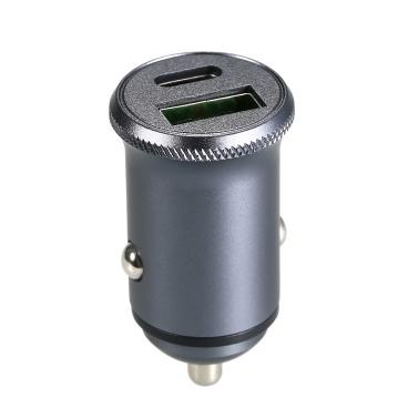 Autoladegerät USB Typ C 12V USB Autoladegerät 5V 4A / 9V 3A Mini Kompatibel mit iPhone Android
