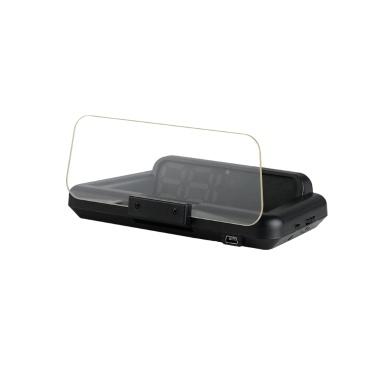 HUD Head-up Display GPS para automóvil Velocímetro digital con monitor de velocidad de odómetro de temperatura de voltaje