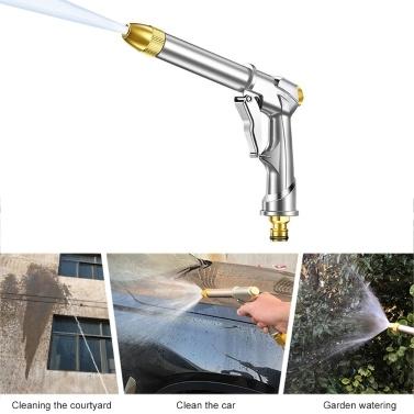 Gartenschlauchdüse, Hochleistungs-Metallspritzpistole, Rotationswasser-Einstelldüse, Hochdrucksprühgerät zum Gießen, Autowaschanlage und Haustierdusche