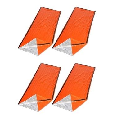 4PCS Wiederverwendbarer Notfallschlafsack Survival Blanket Campingzelt Thermal Waterproof Outdoor Emergency Equipment