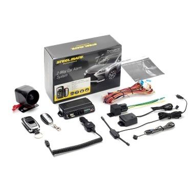 Steelmate 2-Way Car Vehicle Alarm System Burglar Alarm Protection Anti-Theft System 2 Remote Control