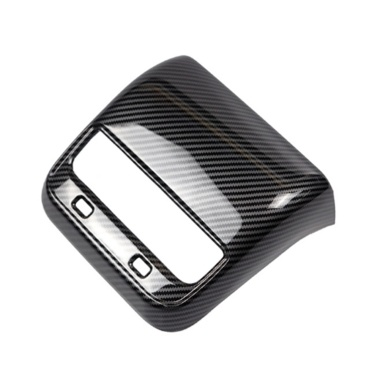 Rear Air Vent Frame Cover Carbon Fiber Replacement for Tesla Model Y