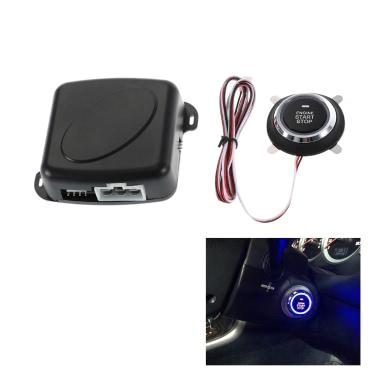 Car Engine Push Start Button RFID Safe Lock Ignition Switch Keyless Entry Starter Anti-theft System