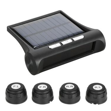Drahtloses Solarauto-Reifendruck-Überwachungssystem DIY TPMS mit 4 externen Sensoren Bar / PSI-Einheit