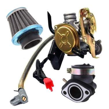 Vergaser Fit für GY6 50CC 49CC 4-Takt Roller Taotao Motor 18mm Vergaser Ansaugkrümmer Luftfilter