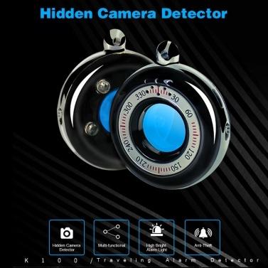 Quelima K100 Mini-Kamera-Detektor Mini-LED-Infrarot-Scan Diebstahlsicherung