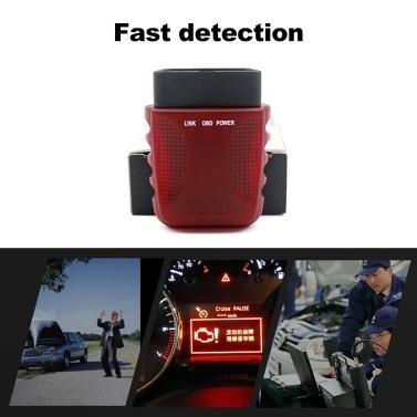 V017 WIFI OBD II-Scanner Autodiagnosewerkzeug Batteriespannungserkennung Für 95% OBD II-konforme Fahrzeuge 16-polig