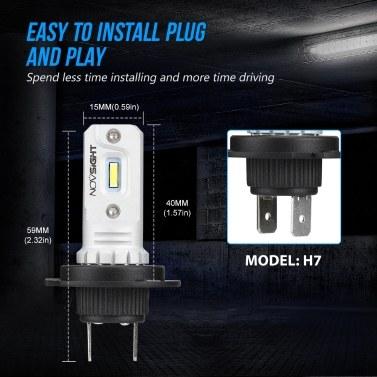 Auto LED Nebelscheinwerfer 80W / Glühlampe Scheinwerfer Lampen Kit 6000K Weiß Lauflicht 1000LM / Lampe, Novsight H11, HID Decoder Nebelscheinwerfer