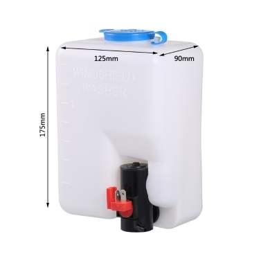 Universal Windscreen Washer Bottle Kit with Pump Hose Jets Wiring Switch