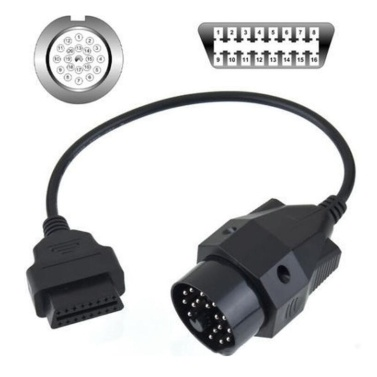 Auto OBD2 Interface Extension Cord 20Pin To 16 Pin Connector 16Pin Adapter Cable Connector Diagnostic Tools Connect Wires