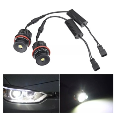 High Power White 6500K 40W/pcs LED Angel Eyes Halo Ring Marker Light Bulb Replacement for BMW E39 E53 E60 E63