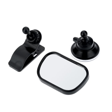 Adjustable Car Baby View Mirror Rear Seat Baby Safety Convex Mirror with Suction Cup/Clip Base