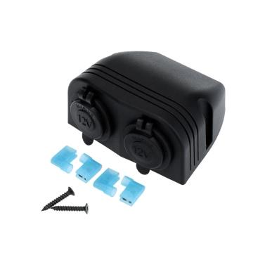 Car Cigarette Lighter Power Socket Splitter Power Charger Adapter 2 Ports 12-24V