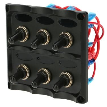 12V-24V wasserdicht 6-Gang Schalter Panel mit Sicherung LED Indikatoren DIY Schalter für Auto Boot Marine Motorrad