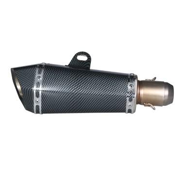 51 mm Refit Auspuff Artificial Carbon Schalldämpfer Rohr Kleine Hexagon Stil für Motorrad-ATV Universal-