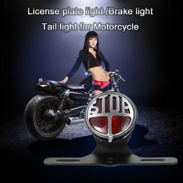 12V-Kfz-Kennzeichen-Lampe Bremsrücklicht LED Bremsleuchte Universell für Motorrad