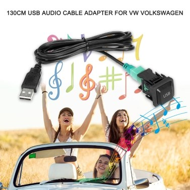 USB Audio Kabel Adapter CD Player Radio Kabel für VW Volkswagen 130cm