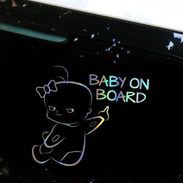 Nette Auto-Aufkleber-kreative Bulldoggen-wasserdichte Aufkleber-Stoßwarnungs-Auto-Laser-Aufkleber-Fenster-Dekoration