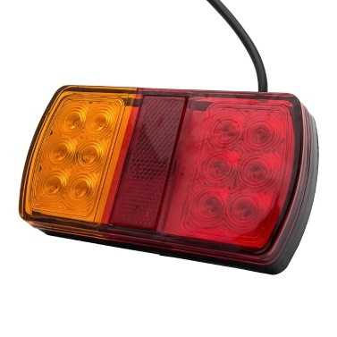 2Pcs 12 / 24V 12 LED Auto Rücklichter Bremsleuchte Bremsleuchte hinten Seitenlicht Stoppanzeige für Tauchboot LKW Anhänger