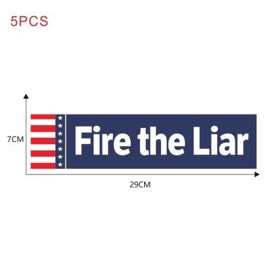 "Autoaufkleber Aufkleber Karosserie Aufkleber Anti-Trump - ""Fire the Liar"" Autoaufkleber für Präsident 2020 Aufkleber US-Präsidentschaftswahl, 5 Stück"