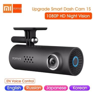 Xiaomi 70mai Smart Dash Cam 1S DVR de carro 1080P HD Controle de voz com visão noturna (versão global)